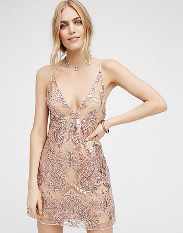Free People Night Shimmers Dress Sz. 2
