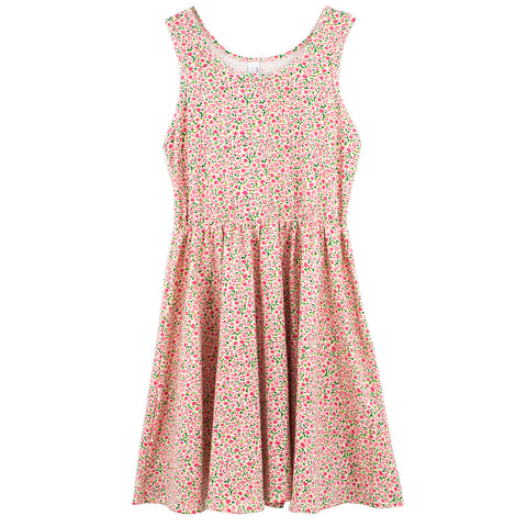 American Apparel Floral Skater Dress Sz: 10 (youth)