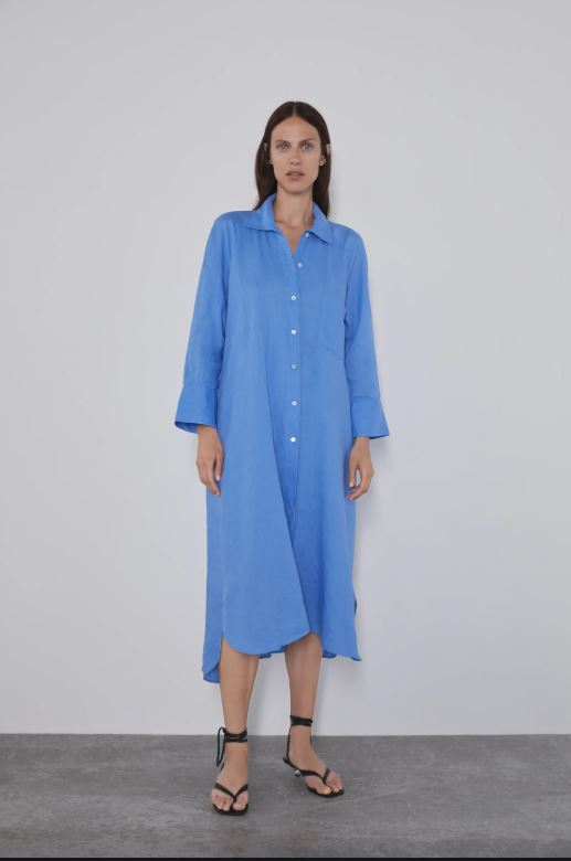 Zara Shirt Dress Sz: M NWT!