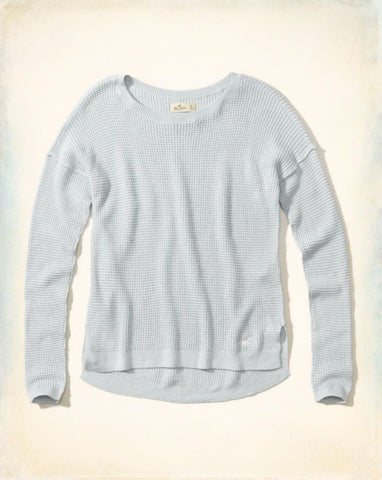Hollister Waffle Knit Pullover Sz:L