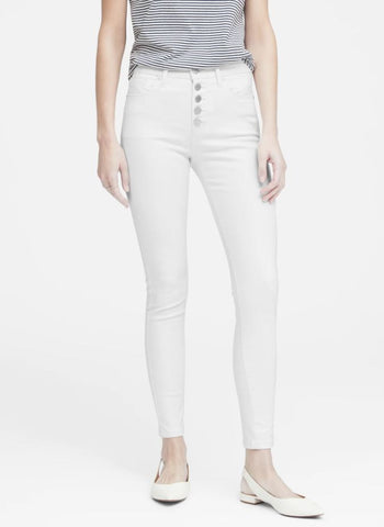 Banana Republic White Jeans Sz: 25