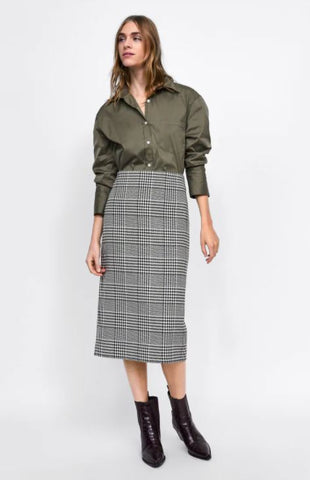 Zara Houndstooth Pencil Skirt Sz: S