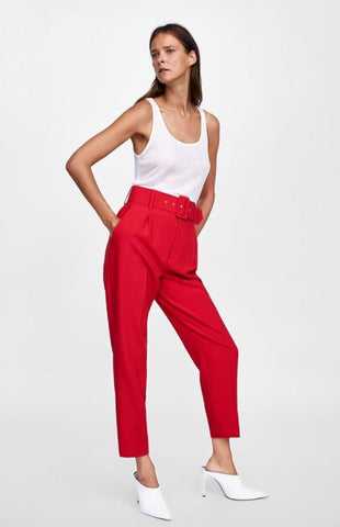 Zara Belted Trousers NWT Sz: L