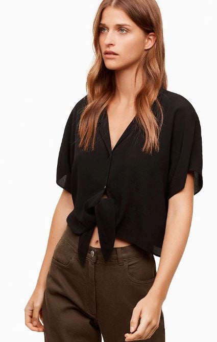 Wilfred Free Tie-Front Blouse Sz: S