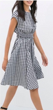 Zara Gingham Midi Dress Sz: M