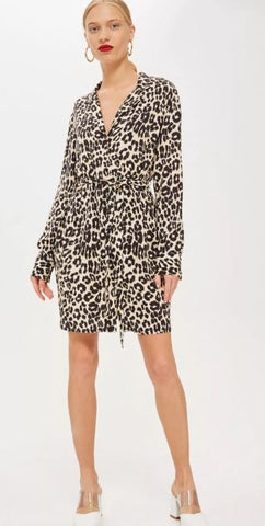 Topshop Animal Print Dress SZ: 2