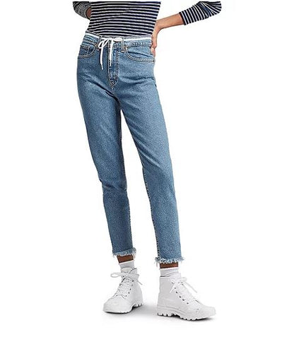 Levi's light wash cropped Mom Jeans Sz: 28