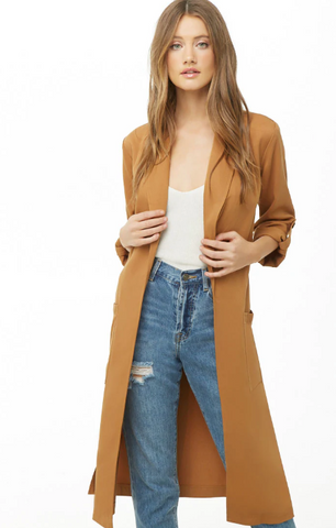 Forever 21 Belted Long Jacket NWT Sz: S