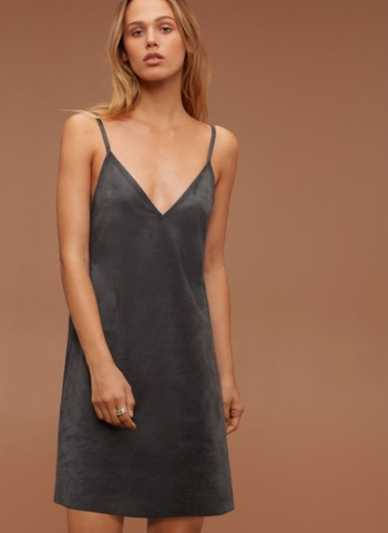Wilfred Free Vivienne Vegan Suede Dress Sz: L