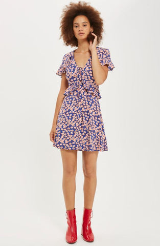 Topshop Daisy Frill Tea Dress Sz: 10