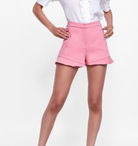 Zara Ruffled Shorts Sz: S