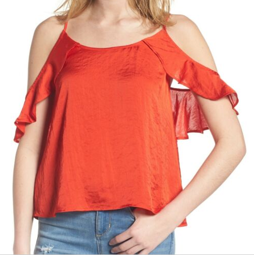 BP Cold Shoulder Silky Top Sz. XXS