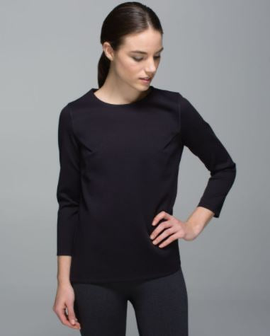 Lululemon Pleated Long Sleeve Top Sz: M