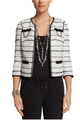 White House Black Market Tweed Jacket NWT Sz: 0P