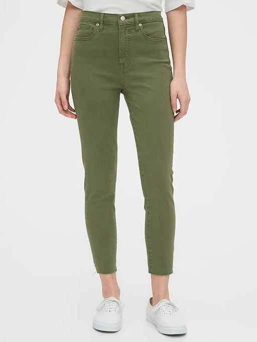 Gap High Rise Olive Jeans Sz: 4