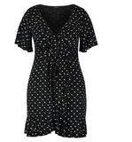 Boohoo Heart Printed Ruffle Dress Sz: 6