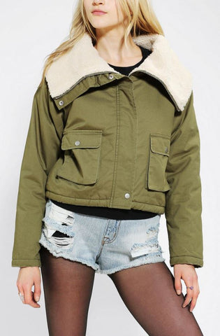 Unif Fur Lined Jacket Sz: M