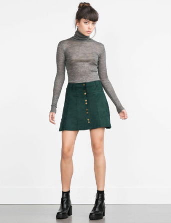 Zara Suede Mini Skirt Sz: S
