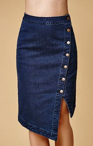 Mink Pink Asymmetrical Denim Skirt Sz: S