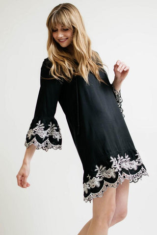California Moonrise Embroidered Dress Sz:M