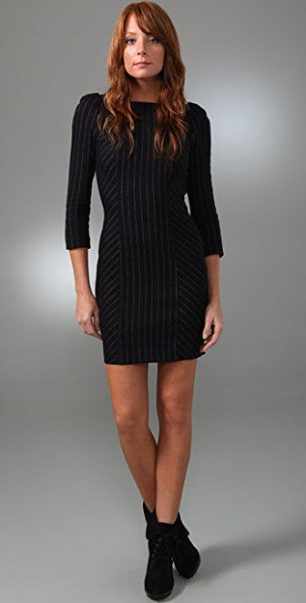 DVF 'Arita' Pinstripe wool dress Size 12