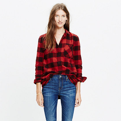 Madewell Flannel Buffalo Check Shirt Sz: L
