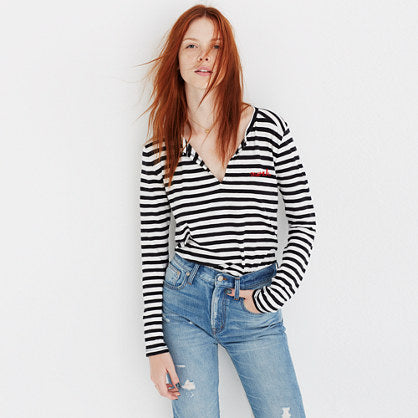 Madewell Mwah stripe top Medium