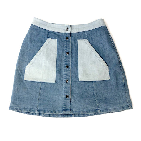 Twik Denim Mini Skirt Sz: XS