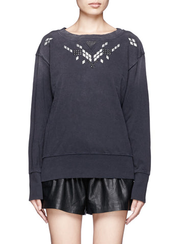 Current Elliott Studded Cotton Sweater Sz: M/L
