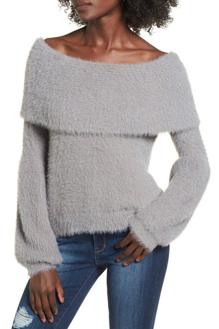 Leith Off-The-Shoulder Sweater Sz: L