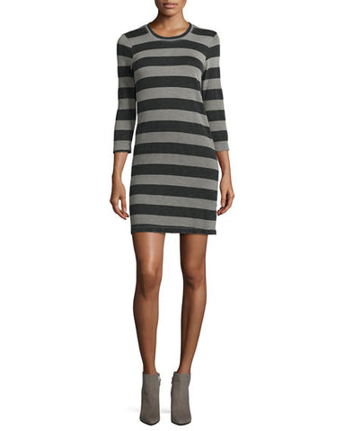 Current Elliot Striped 3/4 Sleeve Dress Size M