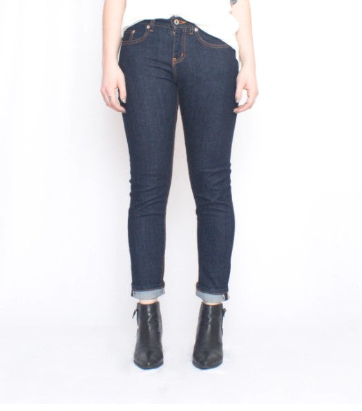 Naked and Famous Boyfriend Jeans Stretch Selvedge Sz: 26