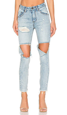 One Teaspoon High-Waisted Freebird Denim Sz 25 (NWT)