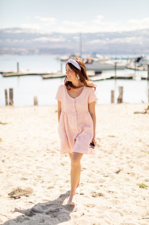 Jillian Harris Linen Dress Sz: M NWT!