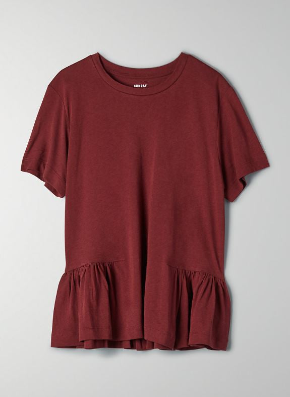 Sunday Best Burgundy Top Sz: M