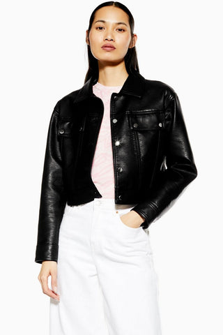 TopShop Faux Leather Jacket Sz. 4