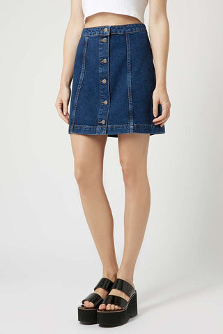 Topshop Denim Skirt Sz:6