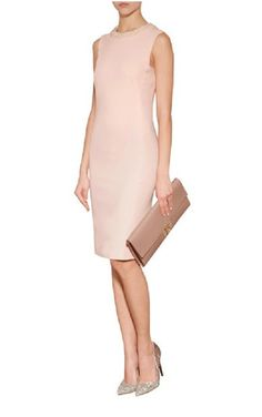 Moschino Pink Sheath Dress with Pearl Collar Sz: S