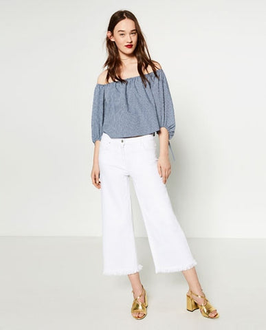 Zara Off The Shoulder Blouse Sz: M
