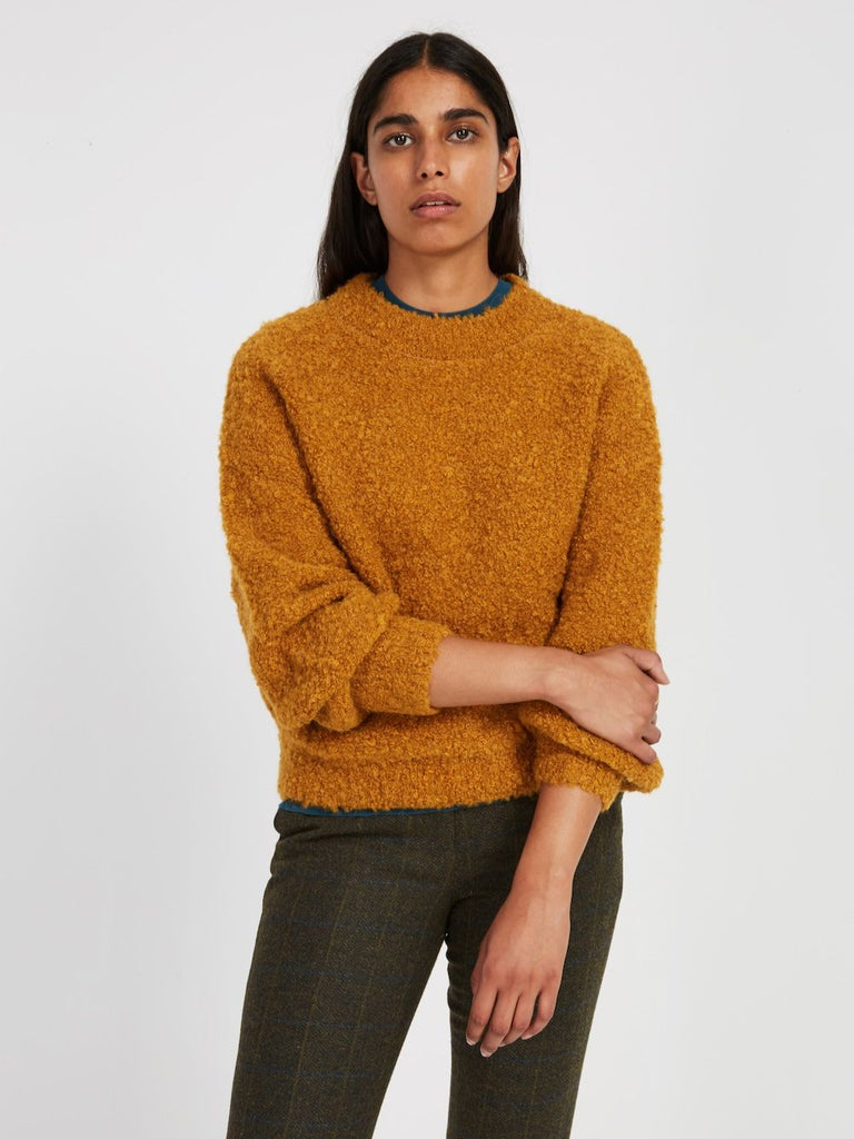 Frank and Oak Fuzzy Boucle Sweater Sz: S