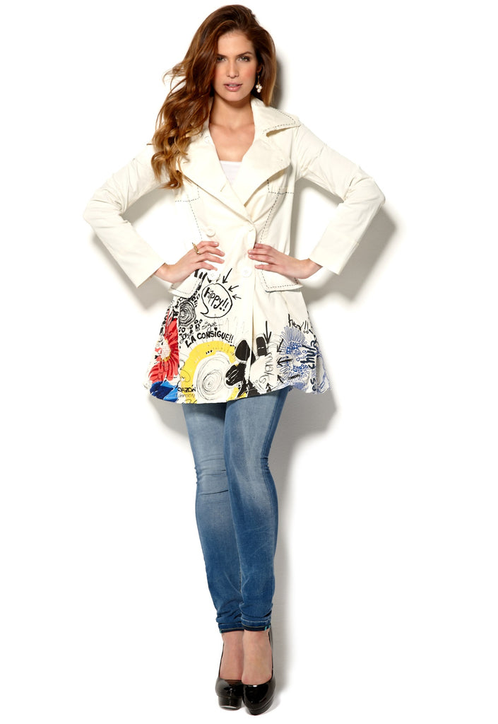 Desigual Abrig Buenos Aires Trench Sz: S