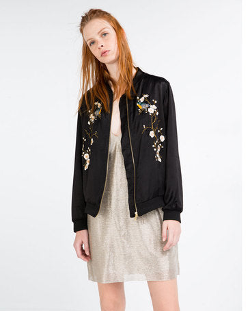 Zara Embroidered Jacket Sz: S
