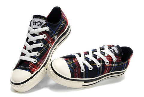 Plaid Converse Low-Tops Sz: 5