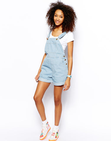 American Apparel Denim Shortalls Sz: M