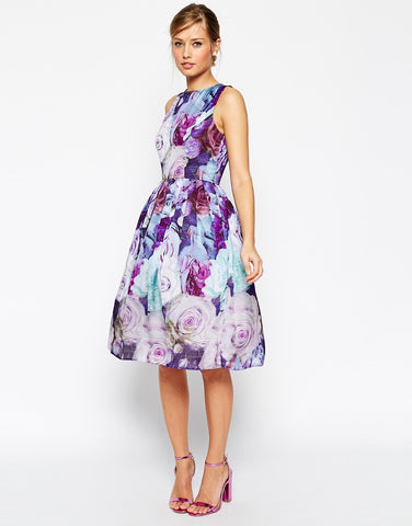 ASOS Floral Soft Prom Dress Size 4