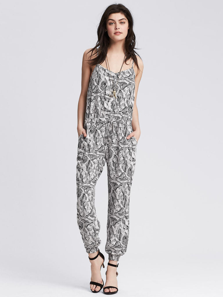 Banana Republic Leaf Print Jumpsuit  Sz: M