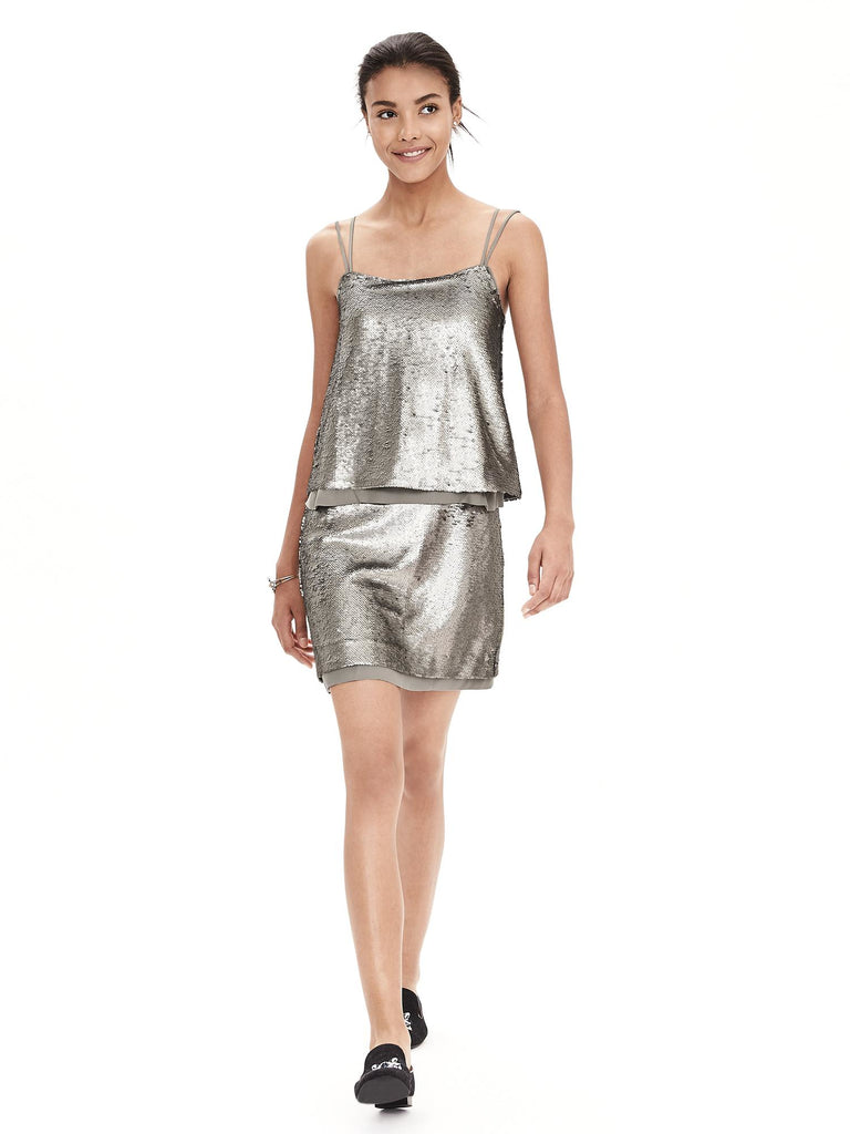 Banana Republic Sequin Dress Sz:4P