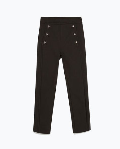Zara Cropped Sailor Pants Sz L