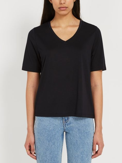 Frank & Oak Fluid V Neck Tee Sz: M