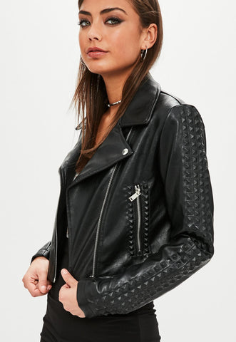Missguided Concealed Stud Jacket Sz:12